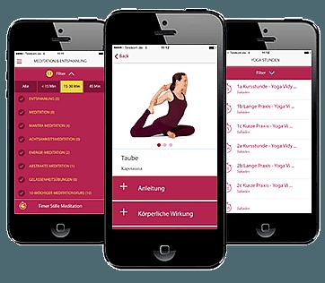 Yoga App entwickelt von Pocketweb